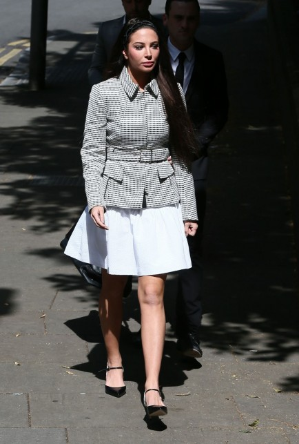 Tulisa Contostavlos Arrives At Southwark Crown Court In London Court