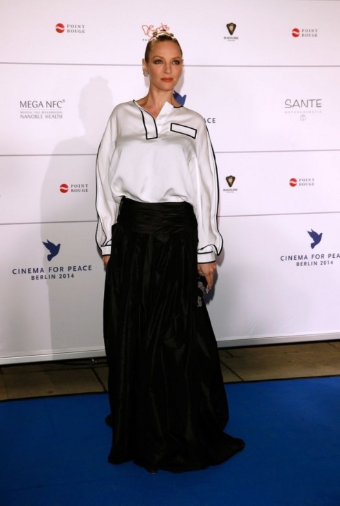 Uma Thurman At Cinema For Peace Gala In Berlin