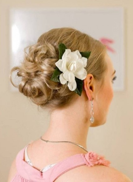 Wedding Hairstyles Side Bun With Flower Side Bun With Flower Bridesmaid Hairstyles For Long Hair Long Pictures To The Side