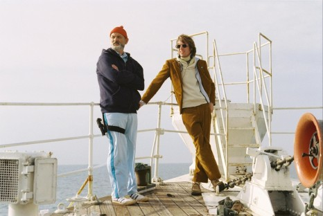 Picture Of Bill Murray And Wes Anderson In The Life Aquatic With Steve Zissou Large Picture
