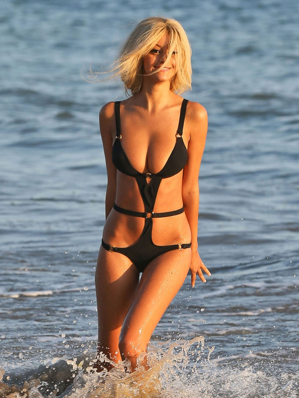 Zahia Dehar In Bikini At Beach In Malibu