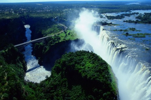 Victoria Falls Zambia And Zimbabwe Wallpaper