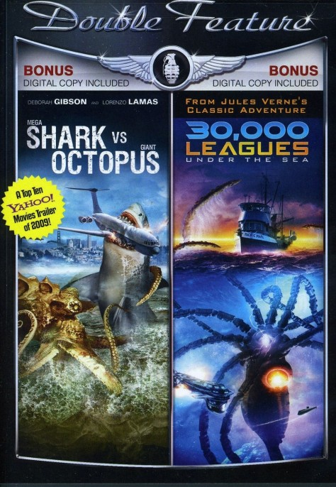Mega Shark Vs Giant Octopus Leagues Under The Sea Dvd  Movie