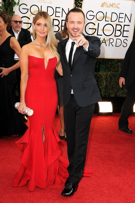 Aaron Paul Joked Around Alongside His Wife Lauren Parsekian Wife