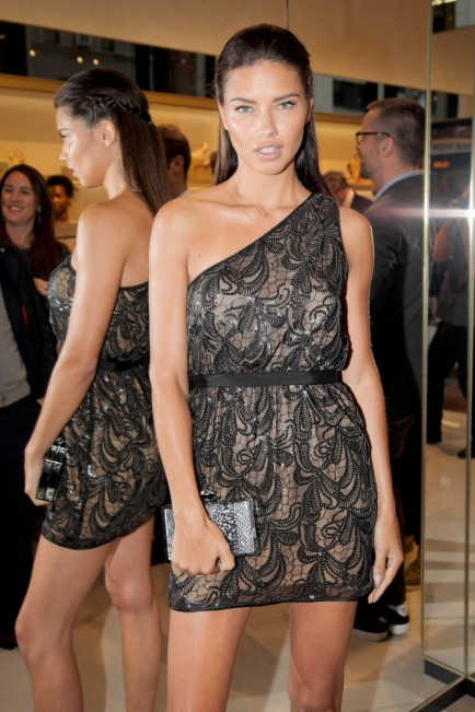 Adriana Lima Vc Signature Store Opening New York City Vince Camuto Dress Fashion
