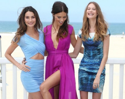 Lily Aldridge Adriana Lima Behati Prinsloo Santa Monica Calif Beach