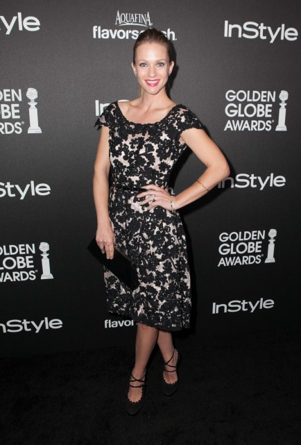 Ajcook At The Hfpa Instyle Celebrates The Golden Globe Awards Season In West Hollywood Aj Cook