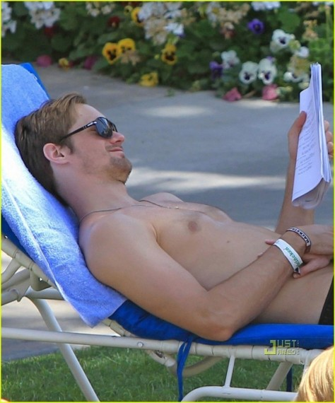 Kate Bosworth Alexander Skarsgard Poolside Pda True Blood Hot