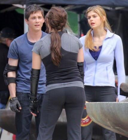 Alexandra Daddario On The Sets Of Percy Jackson Sea Of Monsters In Vancouver Th May Percy Jackson Sea Monsters