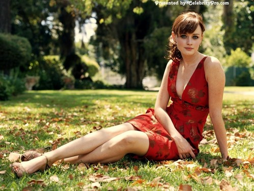 Alexis Bledel Red Dress Wallpaper Customity Sexy