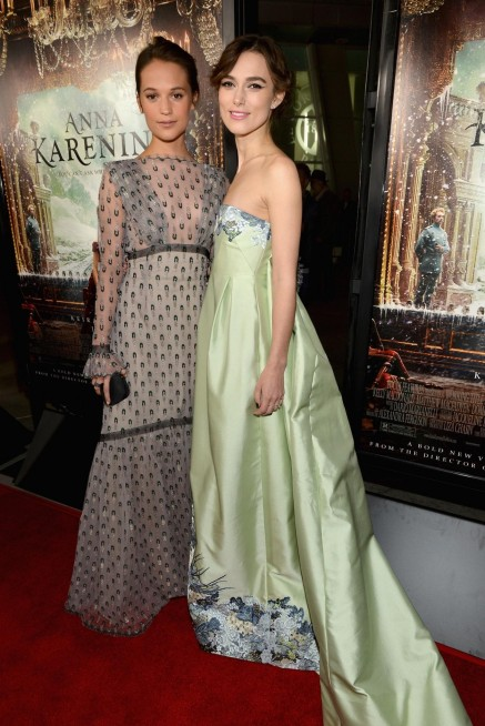 Keira Knightley And Alicia Vikander At Event Of Anna Karenina