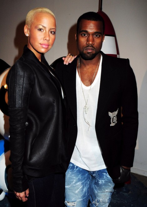 Kanye West And Amber Rose And Kanye West