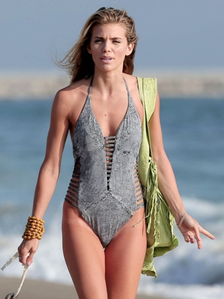 Annalynne Mccord In Swimsuit At The Beach In Los Angeles Beach