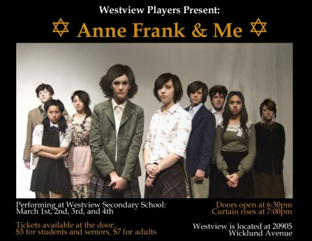 Anne Frank Poster Anne Frank The Whole Story Cast