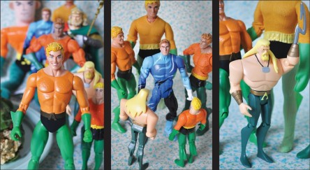 Aquaman Action Figures Collage Movie