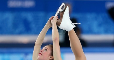 Bronze Medal Winner American Figure Skater Ashley Wagner At The Olympic Games In Sochi