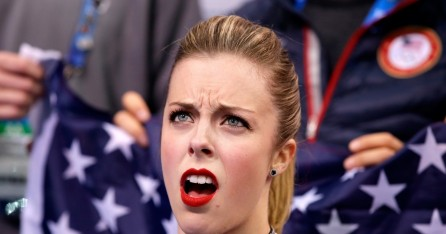 Ice Skater Ashley Wagner Shocked Face Her Olympics Score Became