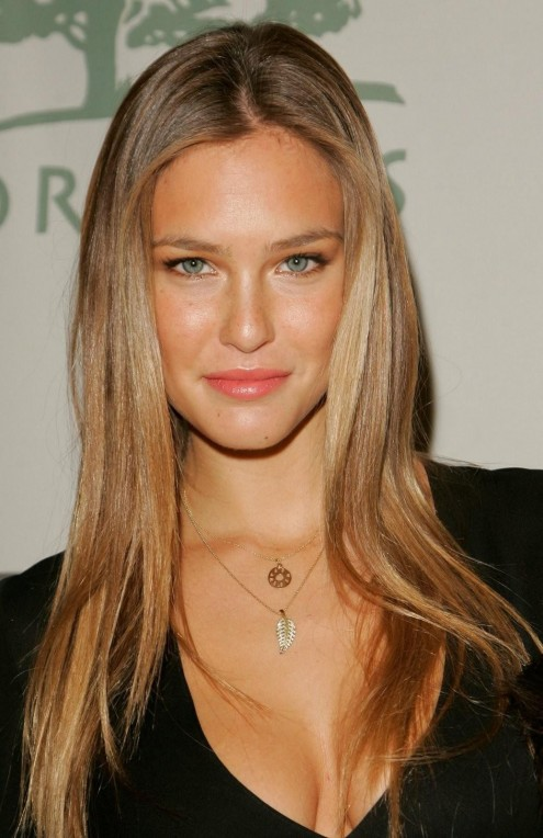 Bar Refaeli Long Silky Hairstyle With Highlights