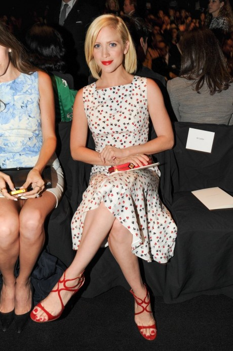 Brittany Snow At The Carolina Herrera Spring Show In Nyc