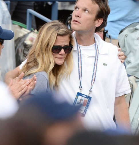 Brooklyn Decker Andy Roddick Crying Us Open Loss Andy Roddick