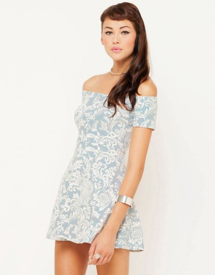 Catalina Dress Paisley Blue Front Std