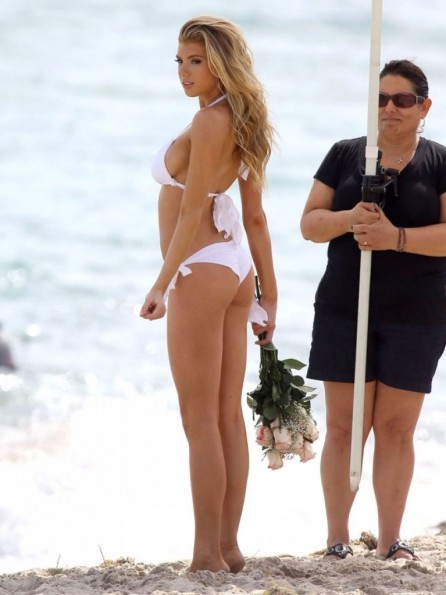 Joy Corrigan Charlotte Mckinney At Summer Loves Bikini Shoot In Miami Bikini