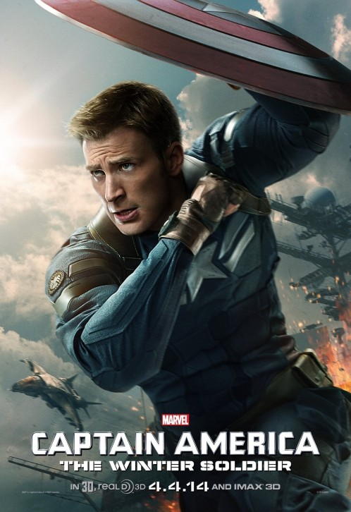 Captain America The Winter Soldier Poster Chris Evans Workout