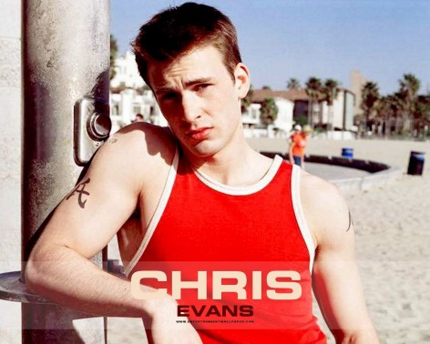 Chris Evans In Red Wallpaper Wallpaper