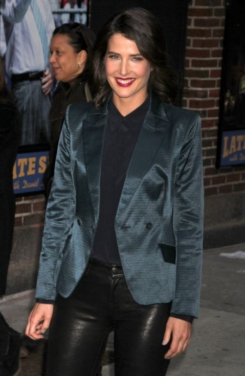 Cobie Smulders At The Late Show With David Letterman In Nyc