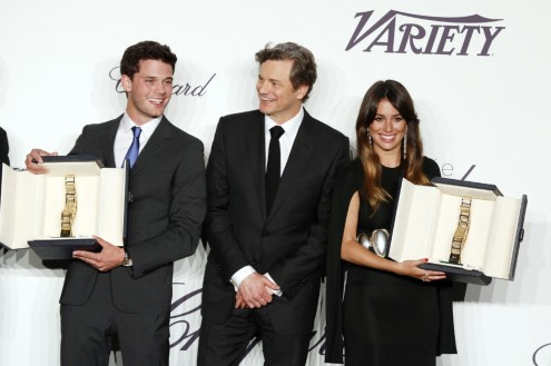 Jeremy Irvine Colin Firth And Blanca Suarez In Chopard