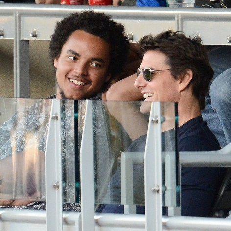 Tom Cruise Son Connor Cruise Dodgers Game