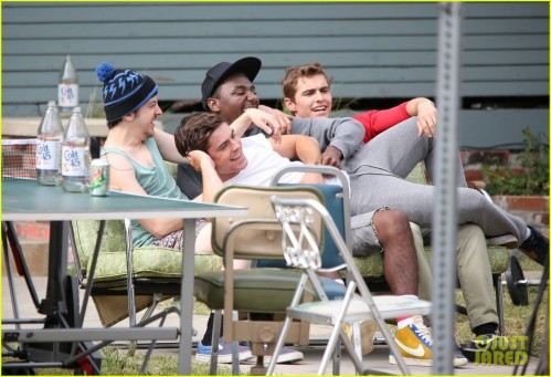 Zac Efron Sweats It Out With Dave Franco On Townies Set