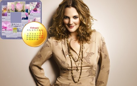 Drew Barrymore February Calendar