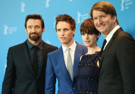 Hugh Jackman Eddie Redmayne Anne Hathaway And Director Tom Hooper Attends The Les Miserables Photocall During The Rd Berlinale International Film Festival Films