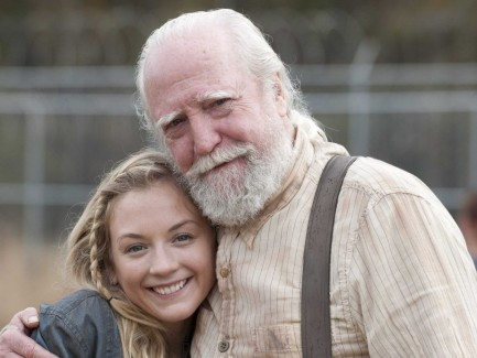 Emily Kinney Scott Wilson The Walking Dead