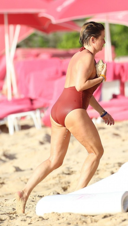 Emma Forbes In Swimsuit At Beach In Bbarbados