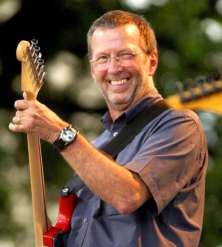 Eric Clapton Wearing Paul Newman Daytona On Fatstrap