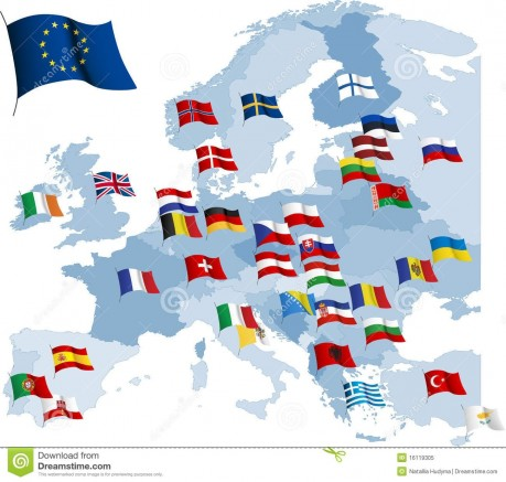 Europe Countries Flagseuropean Country Flags And Map Royalty Free Stock Photo Image Dzxptvjm An Flags