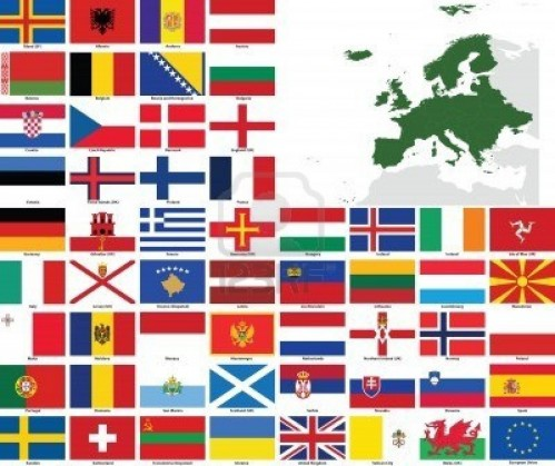 Europe Countries Flagsset Of Flags And Maps Of All European Countries And Dependent Cumax J An Flags