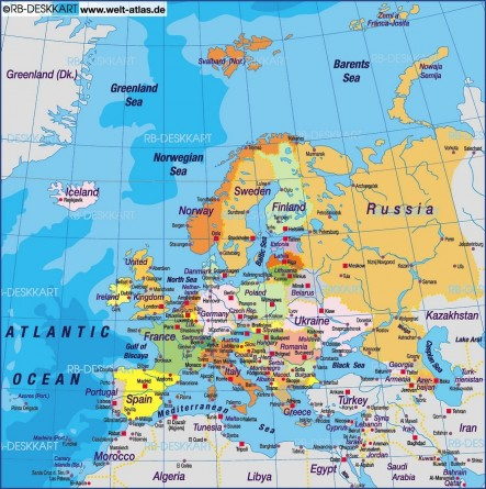 Europe Map Countries Countries