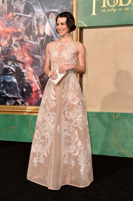 Evangeline Lilly The Hobbit The Battle Of The Five Armies Premiere In Hollywood Fashion