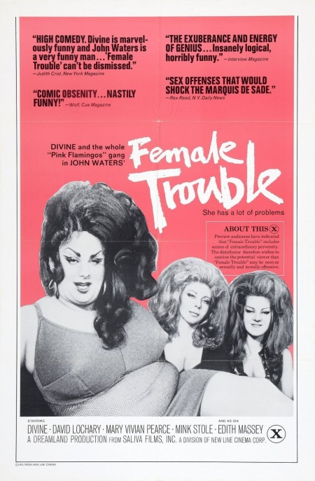 Female Trouble Ver Xlg Movie