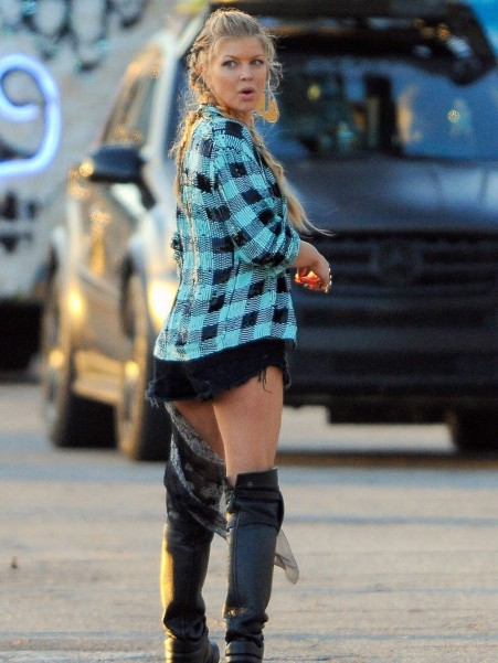 Fergie Filming Music Video Music