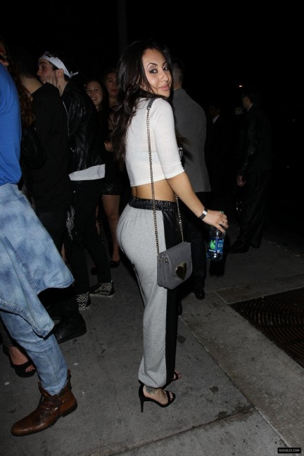 Francia Raisa Night Out Style Outside Bootsy Bellows In Hollywood April