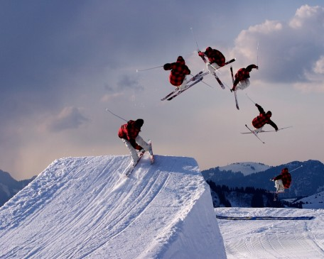 Freestyle Skiing Jump