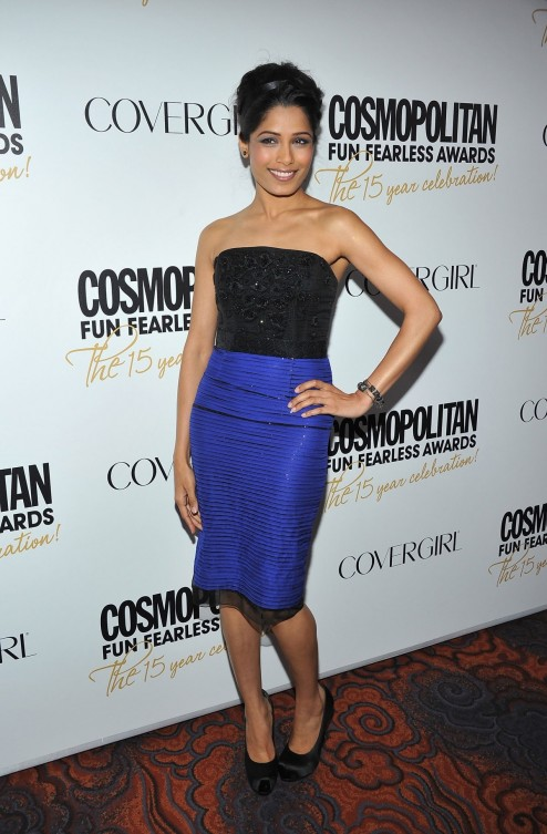 Freida Pinto At Cosmopolitan Fun Fearless Awards In New York