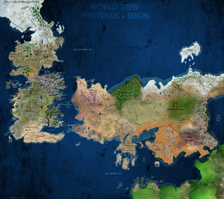 Game Of Thrones World Map Map