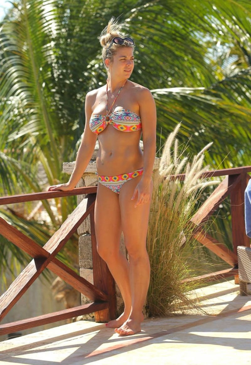 Gemma Atkinson On Holiday In Bali