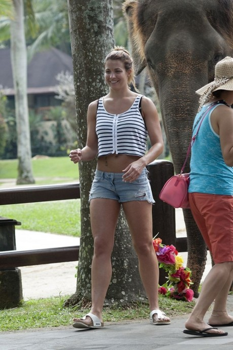 Gemma Atkinson On Holiday In Bali Indonesia June