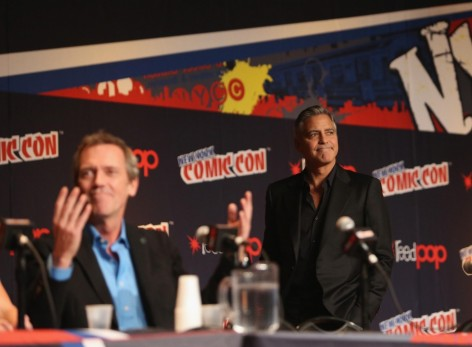 George Clooney Laurie George And Hugh Laurie At Event Of Tomorrowland Large Picture